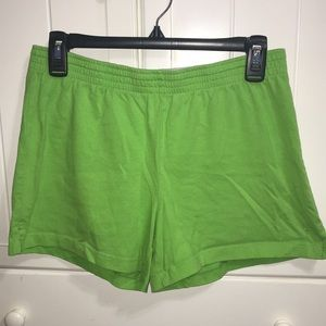 DANSKIN Cheer/Athletic Shorts in Lime Green